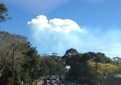 Pyrocumulus over Hornsby