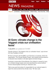BBC: loves Gore, hates Lawson